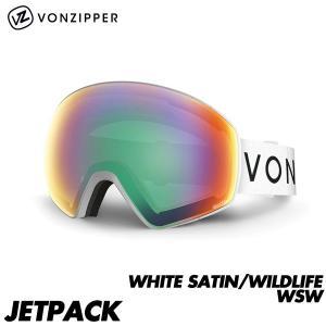 17-18 ボンジッパー ゴーグル ジェットパック VONZIPPER JETPACK WHITE SATIN/WILDLIFE WSW 2018 国内正規品 AH21M-706 boomsports-ec
