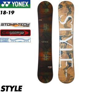 予約商品 18-19 ヨネックス スタイル YONEX STYLE スノーボード スノボ 板 メンズ 男性用 2019 パーク イージーライドキャンバー|boomsports-ec