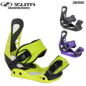 送料無料 ツマ ビンディング ZUMA ZM3500 スノーボード バイン スノボ Black LIME/BLACK PURPLE メンズ レディース ユニセックス|boomsports-ec