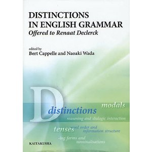 DISTINCTIONS IN ENGLISH GRAMMAR Offered to Renaat ...