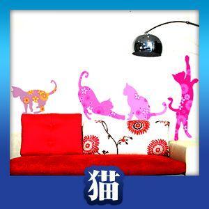 ウォールステッカー 壁 シール 猫|bora