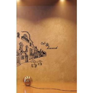 ウォールステッカー 転写式タイプ ヨーロッパのカフェ通り|bora|04