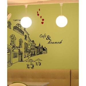 ウォールステッカー 転写式タイプ ヨーロッパのカフェ通り|bora|06