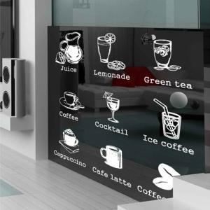 ウォールステッカー 窓 シール Cafe is|bora