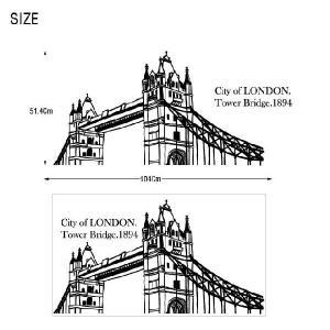 ウォールステッカー 転写式タイプ ロンドンの都市|bora|03