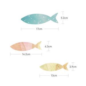 ウォールステッカー シール はがせる 壁 北欧 魚|bora|04