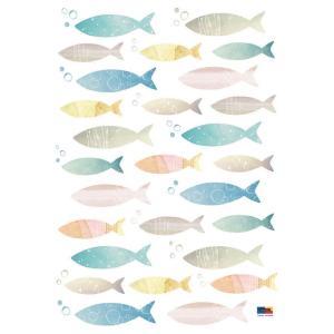 ウォールステッカー シール はがせる 壁 北欧 魚|bora|05
