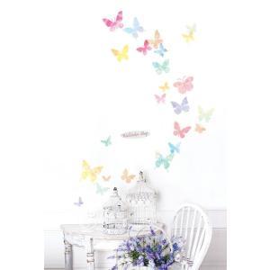ウォールステッカー シール はがせる 壁 北欧 きれい 蝶|bora|03