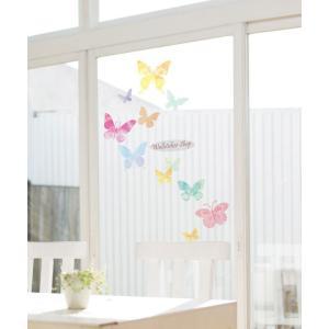 ウォールステッカー シール はがせる 壁 北欧 きれい 蝶|bora|04