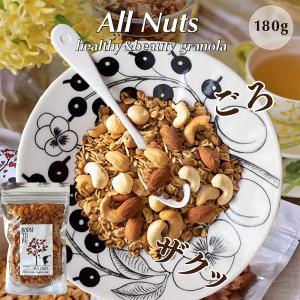 グラノーラ All Nuts 180g グルテンフリー ノンシュガー 有機アーモンド 有機カシュー  マカダミア born-to-be