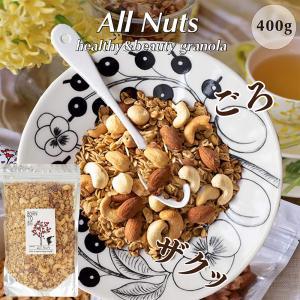 グラノーラ All Nutsホームサイズ 400g グルテンフリー ノンシュガー 有機アーモンド 有機カシュー マカダミア born-to-be