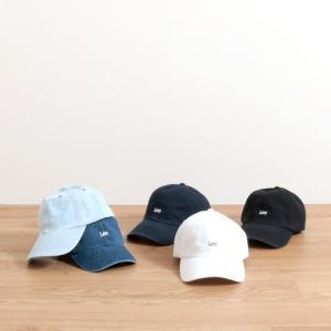 リー ロゴキャップ Lee Logo Cap LA0179 LA0270 ユニセックス 帽子 キャップ ベースボールキャップ キャンバス デニム