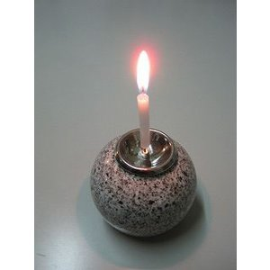 蝋燭立/ロウソク立て石球製(大)|bosekinodaimon