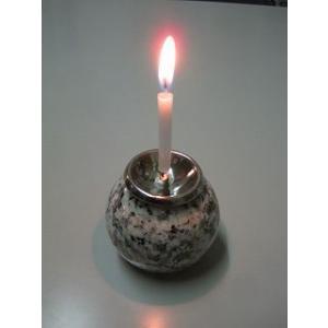 蝋燭立て/ロウソク立石球製(小)|bosekinodaimon