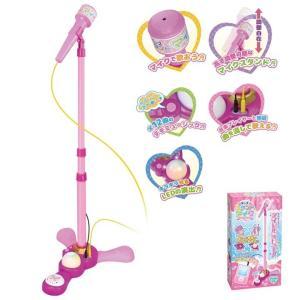 キッズスタンドマイク  ピンク マイクスタンド 高さ調節可能 なりきり スタンド ミュージシャン 歌手 女の子 男の子 子供 子ども 安い おもちゃ