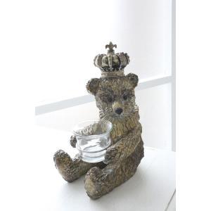 商品説明 存在感抜群のグラスを抱えたコグマのオブジェ♪ ちょこんと座ってガラスカップをしっかりキープ...