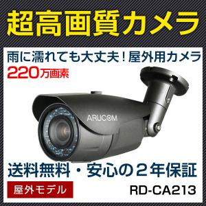 防犯カメラ 監視カメラ AHD220万画素 赤外線搭載屋外対応バレットカメラ 2.8〜12mm (RD-CA213)|bouhansengen