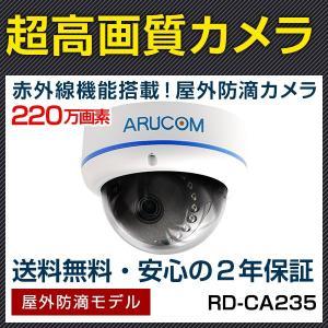 防犯カメラ 監視カメラ AHD220万画素 赤外線搭載屋外対応ドームカメラ (RD-CA235)|bouhansengen