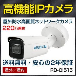 IPカメラ ネットワークカメラ PoE 屋外 防雨 バレット 監視カメラ 約220万画素 赤外線搭載屋外防雨用IPネットワーク電動監視カメラ (RD-CI515)|bouhansengen