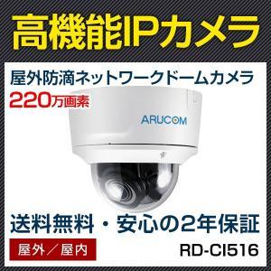 IPカメラ ネットワークカメラ ドーム型 屋外 防滴 PoE 監視カメラ 約220万画素 赤外線搭載 IPネットワーク 電動 監視カメラ (RD-CI516)|bouhansengen