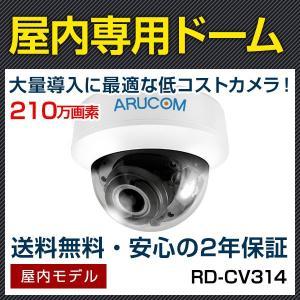HD-TVI ドーム 防犯カメラ 監視カメラ 210万画素 赤外線機能搭載屋内用ドームカメラ RD-CV314|bouhansengen