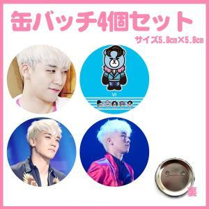 代引き不可☆送料無料★ビックバン BIGBANG スンリ VI 缶バッチ4個セット おまけ写真付 kk724-2 bounceshop