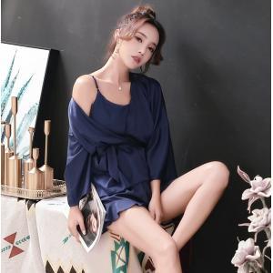 【一部即納有ります】夏 セクシー パジャマ 春夏物 ネグリジェ ガウン 3点セット ナイトウェア|bouquet-de-coton