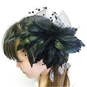 大振り髪飾り ブラック ヘアーバンド カチューシャ|bourree
