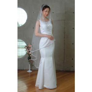 ウエディングベール ヘッドドレス スクエアベール結婚式 ブライダルベール レース(オフホワイト)|bourree