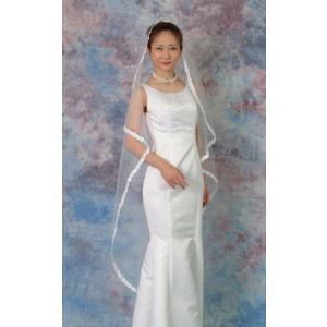 ウエディングベール ヘッドドレス マリアヴェール 結婚式 ブライダル:レース(白)|bourree
