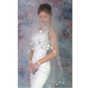 ウエディングベール ヘッドドレス 櫛付きショートベール:(ホワイト)結婚式 ブライダルベール|bourree