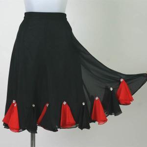 社交ダンス スカート フレアースカート ひざ丈|bourree