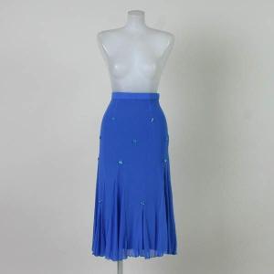 社交ダンス スカート チュールスカート 青 Sサイズ|bourree