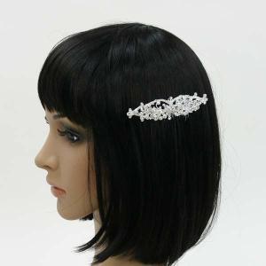 ラインストーン髪飾り コーム付き 櫛つき ヘッドドレス 花|bourree