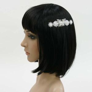 ラインストーン髪飾り コーム付き 櫛つき ヘッドドレス 蝶々(ちょうちょ)|bourree