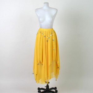 ベリーダンススカート 民族舞踊 ダンススカート 舞台 ステージ衣装/色:黄色|bourree