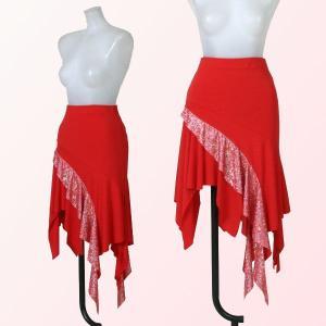 社交ダンススカート・赤|bourree