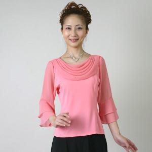コーラスブラウス コーラス衣装 合唱衣装(9号〜15号) ピンク シフォンドレープ|bourree