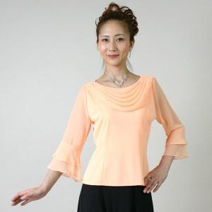 コーラスブラウス コーラス衣装 合唱衣装(9号〜15号) オレンジ シフォンドレープブラウス|bourree