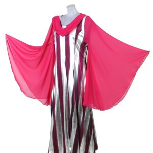 カラオケ衣装 ロングドレス ウイング袖 カラオケドレス 舞台衣装 ステージ衣装|bourree