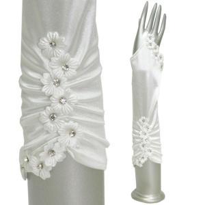 ウエディンググローブ 小花付き指なし オフホワイト|bourree