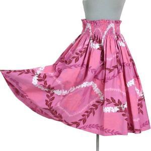 フラダンス シングル パウスカート 4段ゴム入り  綿100%  ピンク|bourree