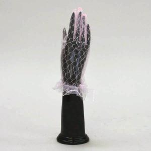 手袋/グローブ フォーマル手袋 レースグローブ 結婚式 ブライダル パーティ ダンスに/カラー:ピンク bourree
