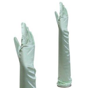 サテン手袋 グローブ レディース超ロング丈 TS-LL ライトグリーン|bourree