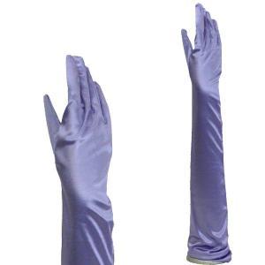 サテン手袋 グローブ レディース超ロング丈 TS-LL 竜胆色(りんどう)|bourree