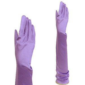 サテン手袋 グローブ レディース超ロング丈 TS-LL すみれ色|bourree