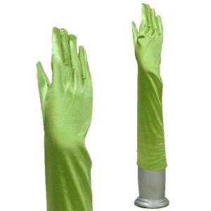 サテン手袋 グローブ レディースミディアム丈 TS-M アップルグリーン|bourree