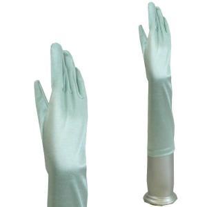 サテン手袋 グローブ レディースミディアム丈 TS-M 浅緑|bourree
