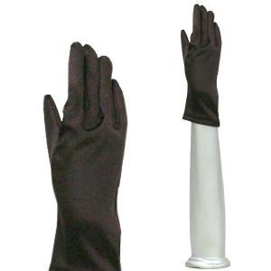 サテン手袋 グローブ 結婚式 ブライダル パーティーグローブ フォーマル手袋  レディースショート丈 TS-S チョコレート|bourree