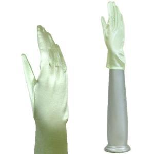 サテン手袋 グローブ 結婚式 ブライダル パーティーグローブ フォーマル手袋  レディースショート丈 TS-S ライトグリーン|bourree